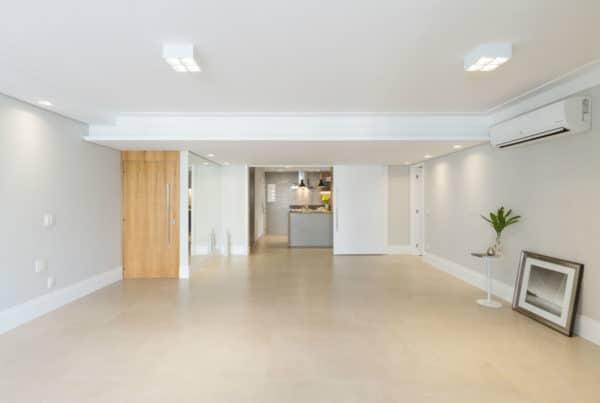 Sala depois da reforma realizada pela Casa Unique em apartamento nos Jardins SP