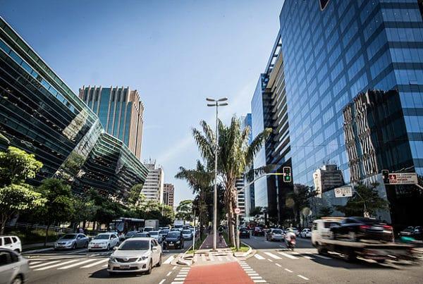 Avenida Faria Lima no bairro Itaim Bibi em São Paulo