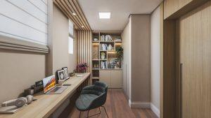 Projeto de home office em um apartamento Casa Unique