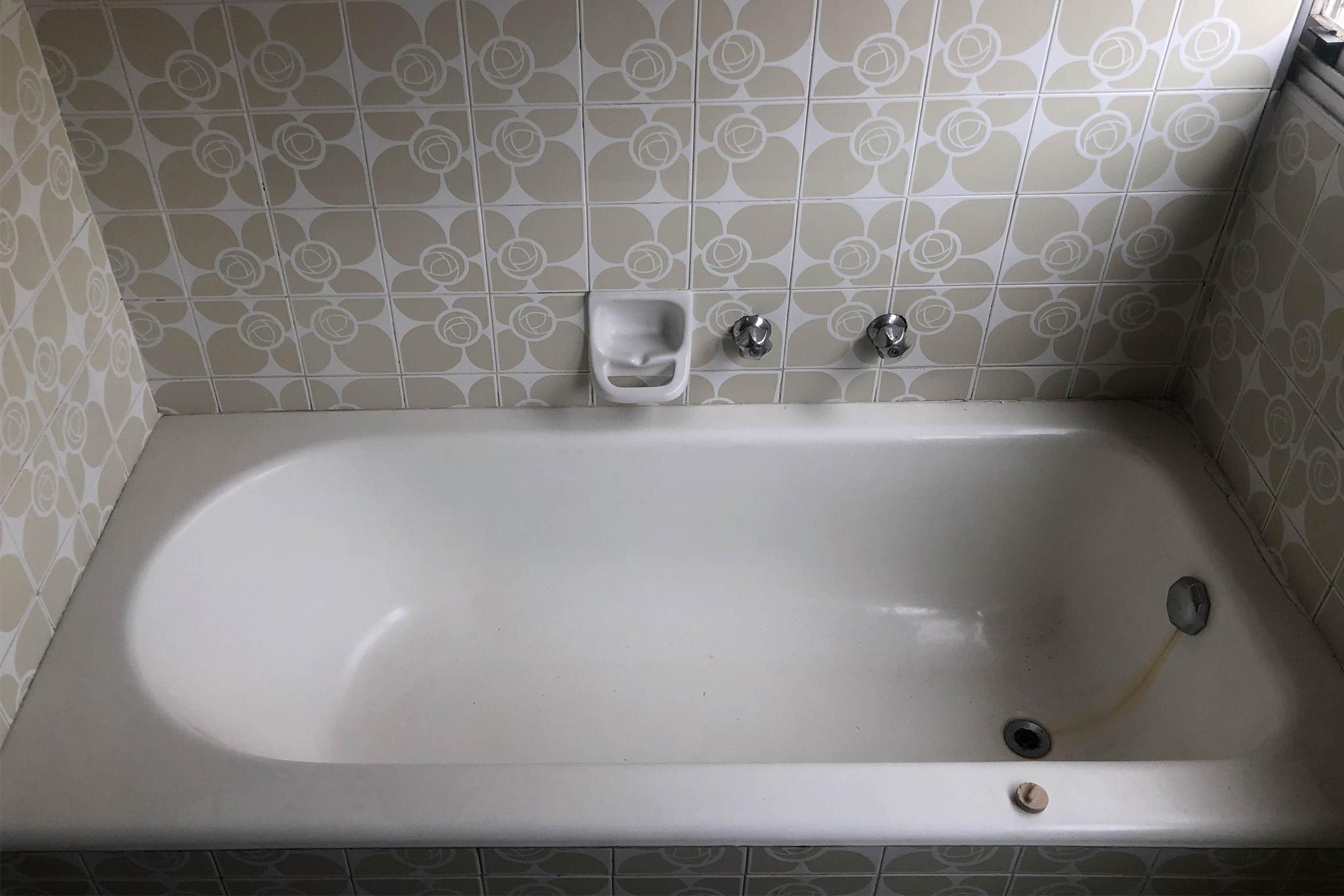 antes e depois da banheira Jacuzzi